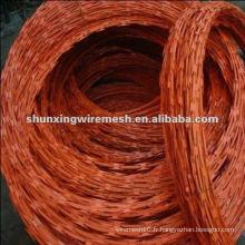 Revêtement galvanisé et en PVC peu coûteux Razor Clôture en fil de fer à vendre (usine)