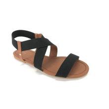 Punta abierta con sandalia superior elástica para mujer