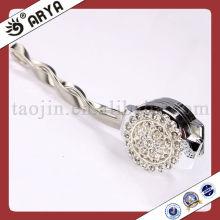Clous de rideau magnétiques en argent avec décor de strass Porte-papier en métal