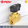 electric brass thread connection steam solenoid valve