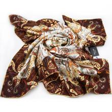 Lenço da impressão digital de seda da boa qualidade da senhora direta da fábrica