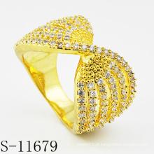 2015 Hot-Selling prata 925 moda banhado a ouro jóias anel (s-11679)