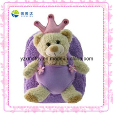 Purple Teddy Bear Custom Plush Backpack (XDT-0033Q)