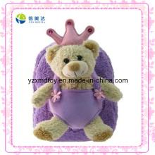 Urso de pelúcia roxo personalizado mochila de pelúcia (XDT-0033Q)