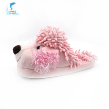 Zapatillas de felpa para perros de interior de invierno rosa niños