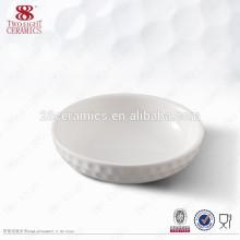 Plaque à sauce en céramique blanche Mini Chafing