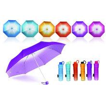 Strip Rainbow Mini Aluminium Windproof Umbrella (YS-3FM21083943R)