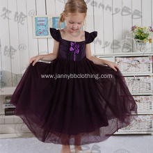 girl purple lace princess dress