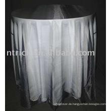 100 % Polyester Tischdecke und Organza Table Overlay, Hotel/Bankett Tisch decken