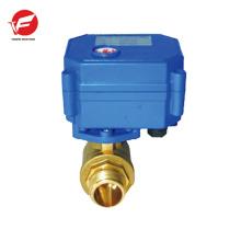 mini electric valve actuator for water sensor system