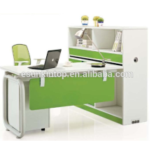 Stuff desk for office design, Beautiful pearl white + parrot green, Office desks furniture design (JO-5009-1)