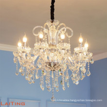 Modern Luxury Large Big Hotel Lobby Candle Crystal Chandeliers LED Glass Pendant Light for Interior