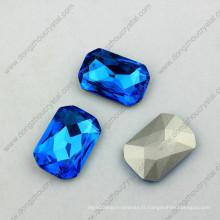 Fabrication de perles de haute qualité à pointe octogonale en cristal