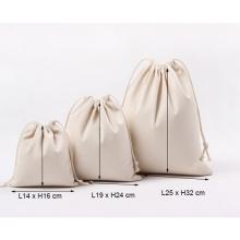 Custom Canvas Drawstring Pouch Bags Eco Friendly Reusable Blank Small Organic Cotton Drawstring Bag with Logo