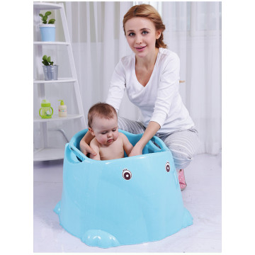 Elephant Shape Infant Deep Bathtub med sittplats