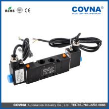 Однопозиционное пневматическое управление 2 положения 5-ти ходовой электромагнитный клапан