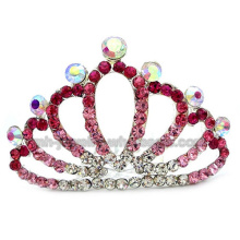 Charms Colorful Flower Party Crown Comb Ornaments For Women