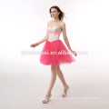 В наличии конфеты Цвет Красный вышитый бисером off-плечо платье элегантные вечерние партии