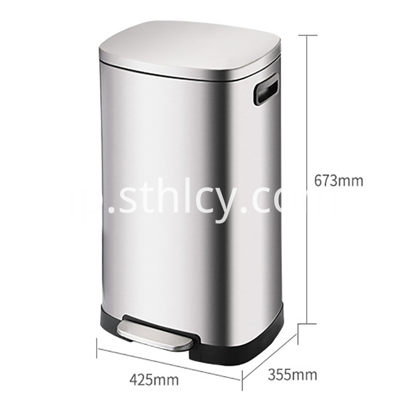 Stainless steel trash can Size