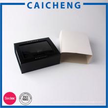 Boîte en carton magnétique logo personnalisé avec fenêtre / pochette en papier enveloppé
