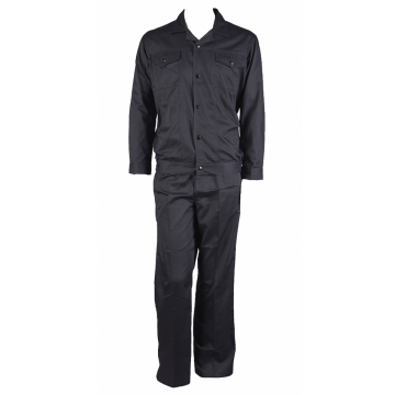 Black Nomex Work Suit dengan Pockets Snaps