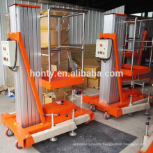 Hontylift mobile hydraulic aerial lifts/single mast aluminum lift platform  Hontylift mobile hydraulic aerial lifts/single mast aluminum lift platform