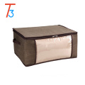 factory foldable clear pvc quilt bag with non woven bag for home organizer