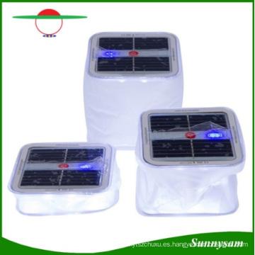 Sunnysam más reciente innovación portátil impermeable plegable inflable claro PVC linterna solar 10 LED camping luz