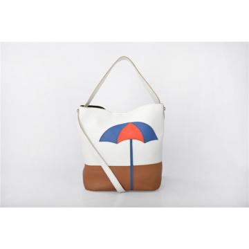 Chestnut Overarm Handbag Large Bucket Shoulder Bag