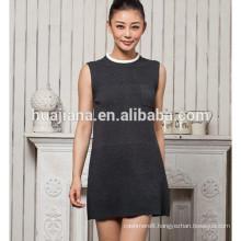 2015 fashion women's cashmere vest dress
