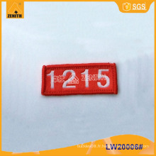 Étiquette tissée pour vêtements LW20006