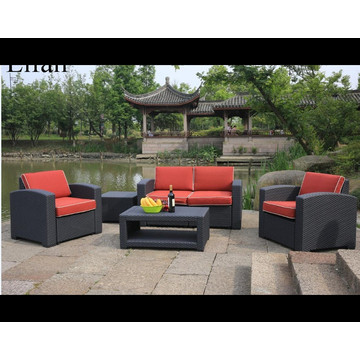 Mail Packing Patio Sofa setzt Rattan-Effekt
