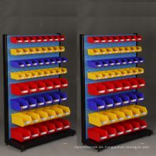 Caja de almacenamiento plástica de las piezas de repuesto de la venta caliente Compartimiento montado en la pared