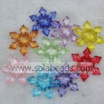 Winter 30MM Acrylic Plastic Blossom Beads