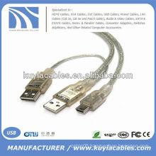 USB Splitter Cable USB A to mini B for External Hard Drive
