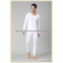 Jacquard tecido homens sem costura long johns, homens pijamas long johns underwear