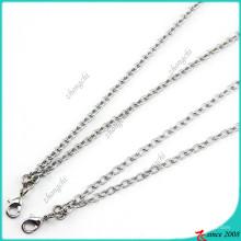 Prata colar de corrente de ferro para flutuante Locket (fn16040966)