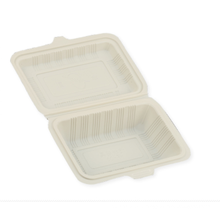 600ml Clamshell Food Packaging Container /Disposable Corn Starch Food Container