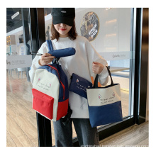 New arrival fashion school bags large capacity backpack all-match travel bag 4 in one set students bag