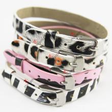 Bracelet en cuir imprimé léopard 8mm pour fille