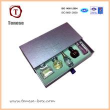 Caixa de perfume de papel de cartão personalizado para embalagem de cosméticos