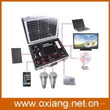 500w protable hors-réseau solaire système d'éclairage à la maison avec inverseur d'onde sinusoïdale pure et mini contrôleur solaire de haute qualité