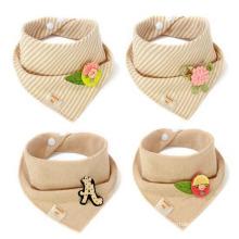 China hot selling baby bandana drool bibs for drooling and teething cotton baby bib bandana