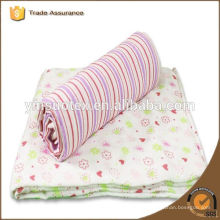 organic cotton pink muslin factory price for new baby