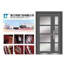 Puerta exterior de doble hoja de acero inoxidable (LTSS-7003)