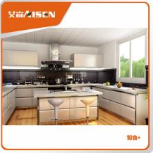 Aisen Diseño razonable y aceptable del gabinete de cocina del pvc del blanco de la alta calidad del precio razonable y aceptable