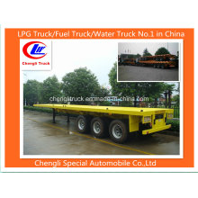 Adr 3 Axle 40feet Container Flatbed Semi-Trailer Flatbed Trailer 40feet Flat Top Trailer Flat Deck