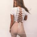 Fashion Lady Daily Popular Dress Strap-cross Beauty Back T-shirt Clothing