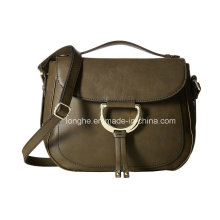New Style PU Leather Ladies Saddle Bag (ZXS0120)