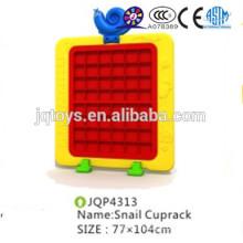 JQP4313 School furniture kids plastic cup holder snail cup shelf without door